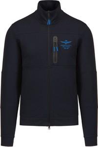 Granatowa bluza Aeronautica Militare w stylu casual