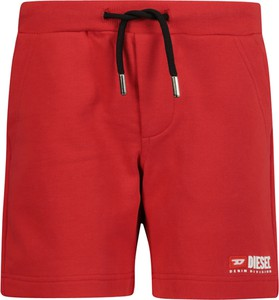 Czerwone spodenki dziecięce Diesel z bawełny