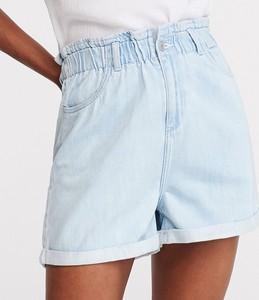 Niebieskie szorty Reserved z jeansu w street stylu