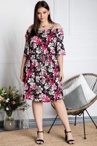 Sukienka KARKO hiszpanka midi w stylu casual