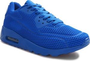 Niebieskie buty sportowe Gemre sznurowane w sportowym stylu