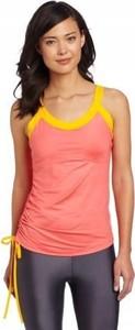 Różowy t-shirt Reebok z okrągłym dekoltem w sportowym stylu