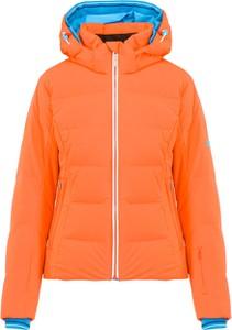 Pomarańczowa kurtka Descente w sportowym stylu
