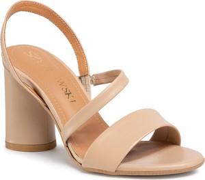 Brązowe sandały Szydłowski ze skóry