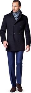 Granatowy płaszcz męski LANCERTO w stylu casual