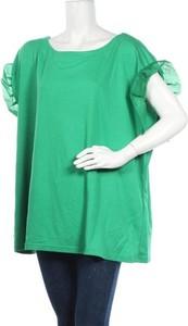 Zielona bluzka I.scenery z okrągłym dekoltem