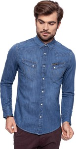 Niebieska koszula Wrangler z jeansu