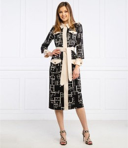 Sukienka Elisabetta Franchi z długim rękawem midi