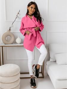 Różowy płaszcz magmac.pl w stylu casual