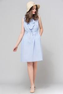 Niebieska sukienka Monnari bez rękawów z bawełny
