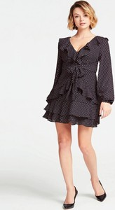 Czarna sukienka Guess z długim rękawem mini