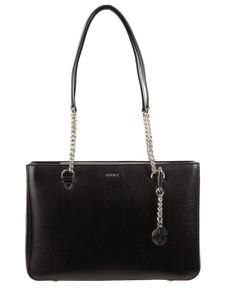 Czarna torebka DKNY w stylu glamour