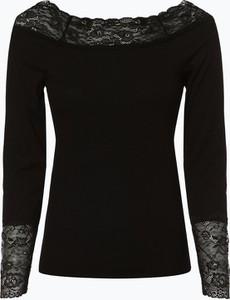 Czarny t-shirt Vila z długim rękawem z okrągłym dekoltem