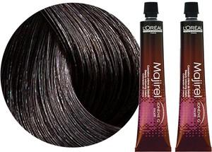 L'Oreal Paris Loreal Majirel | Zestaw: trwała farba do włosów - kolor 4.0 głęboki brąz 2x50ml - Wysyłka w 24H!