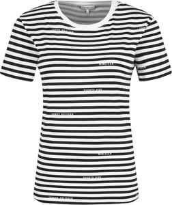 Czarny t-shirt Tommy Hilfiger z krótkim rękawem z okrągłym dekoltem