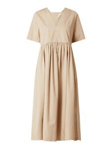 Sukienka Marc O'Polo DENIM z bawełny z krótkim rękawem z dekoltem w kształcie litery v