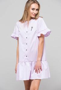 Fioletowa sukienka Monnari mini z bawełny
