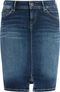 Niebieska spódnica Pepe Jeans w stylu casual