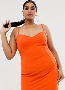 Sukienka Fashionkilla Plus na ramiączkach