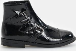 Czarne buty dziecięce zimowe Reserved na zamek