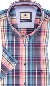 Koszula Hatico z bawełny z krótkim rękawem w stylu casual