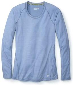 Niebieski t-shirt Smartwool z wełny