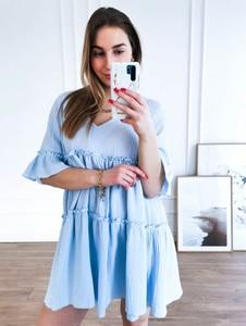 Sukienka Perfe.pl oversize mini w stylu casual