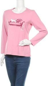 Różowa bluzka Northern Reflections z długim rękawem z okrągłym dekoltem