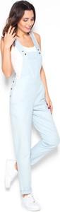 Niebieskie spodnie Katrus z jeansu w stylu casual