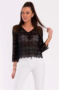 09eb941e679b czarna bluzka z dekoltem na plecach - stylowo i modnie z Allani