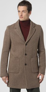 Brązowy płaszcz męski Cinque