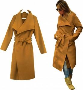 Brązowy płaszcz METKA w stylu casual