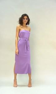 Sukienka Nommo bez rękawów prosta z bawełny