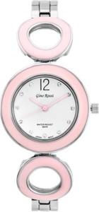 ZEGAREK DAMSKI GINO ROSSI - 8223B - SFERICO (zg518e) silver/pink + BOX - Srebrny    Różowy