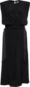 Sukienka Victoria Beckham midi z okrągłym dekoltem