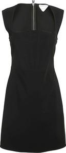 Sukienka Bottega Veneta bez rękawów z dekoltem w kształcie litery v mini
