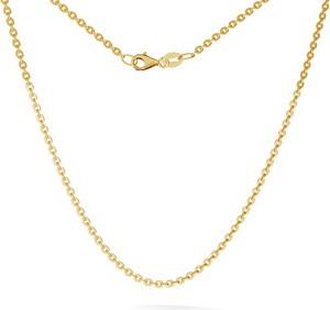 GIORRE SREBRNY ŁAŃCUSZEK CHOKER ANKER PŁASZCZONY 925 : Długość (cm) - 45, Kolor pokrycia srebra - Pokrycie Żółtym 24K Złotem