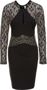 Czarna sukienka bonprix BODYFLIRT boutique z okrągłym dekoltem ołówkowa midi