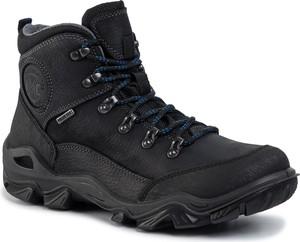 Czarne buty zimowe Manitu sznurowane