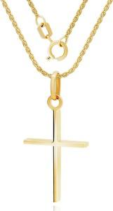 Irbis.style komplet złotej biżuterii - zawieszka i łańcuszek