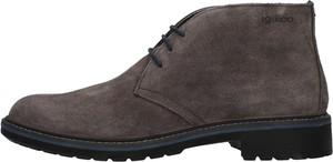 Buty zimowe Igi & Co ze skóry sznurowane
