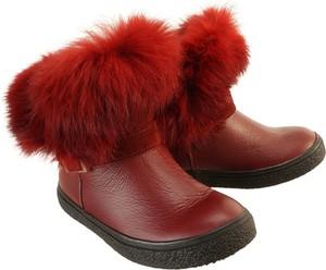 Czerwone buty dziecięce zimowe Zarro