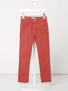Różowe spodnie dziecięce Review For Kids z jeansu