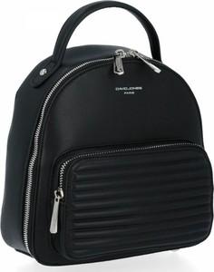 Czarny plecak David Jones ze skóry ekologicznej