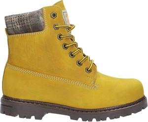 Żółte buty zimowe Wojas sznurowane