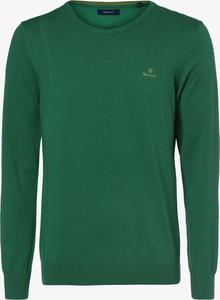 Zielony sweter Gant w stylu casual z okrągłym dekoltem z bawełny