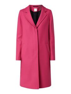 Różowy płaszcz BOSS Casual z wełny
