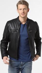 Czarna kurtka Cabrini ze skóry w stylu casual