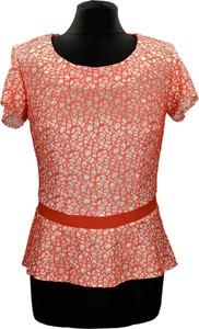 Czerwona bluzka Fokus z krótkim rękawem