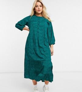 Zielona sukienka Wednesday`s Girl Curve maxi